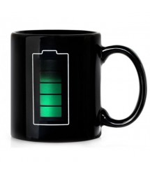 Battery Looking Colour Changing Temperature Mug