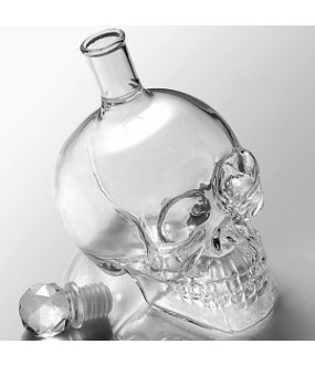 Glass Skull Decanter For Wine And Spirits