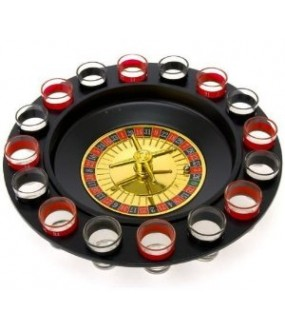 Drinking Roulette - Drinking Game Set with 2 Balls and 16 Glasses