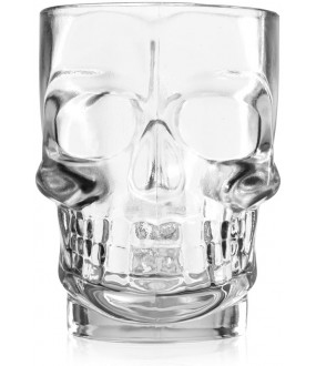 Crystal Skull Style Glass Beer Cup - Transparent