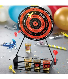 Magnetic Dart Party Drinking Game with Shot Glasses