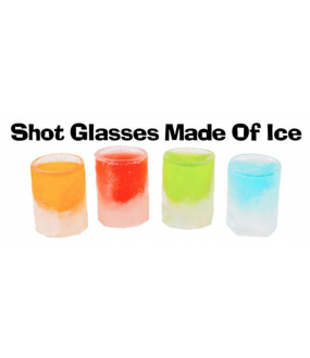 Ice Tray Shot Glasses Makes 4 Shot Glasses