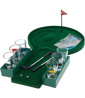 Golf Drinking Game with Shot Glasses