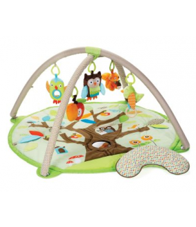 Cute Baby Activity Gym Play Mat - Owl, Tree, Bird, Squirrel