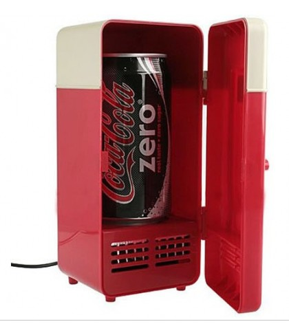 USB Mini Fridge Single Drink Can Refrigerator